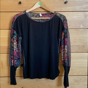 Anthropologie balloon sleeve blouse!